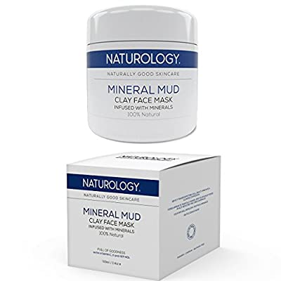 Naturology The Best Face Mask Made From Dead Sea Clay & Minerals –100% Natural & Organic Facial Treatment Suitable For All Skin Types Rejuvenates & Restores Healthy Complexions by Naturology