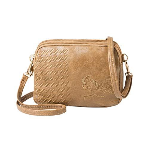 Schultertaschen Frauen Beutel Weinlese-Softleder Luxus Handtaschenfrauen-Designer weibliche kleine Bote-Umhängetasche Einkaufs Flap (Color : RG, Size : S)