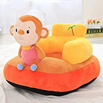 SAKOZI Soft and Rocking Chair Skin Friendly Elephant Shape Baby Supporting Seat Soft Plush Cushion and Chair for Kids/Baby – (Monkey-Orange)