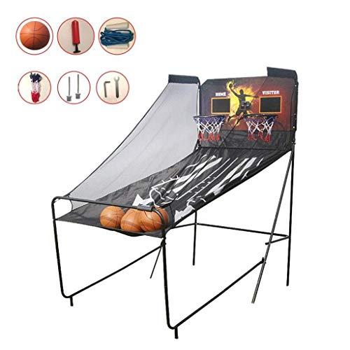 JJLL Hoop Arcade Game Basketball Ständer Adult Indoor Elektronische Score Schießmaschine Faltbare (Size : A)