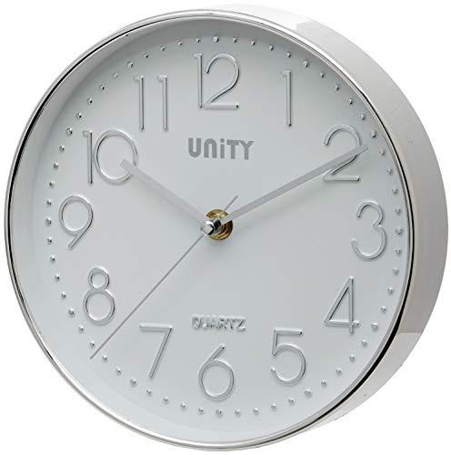 Unity Cambourne - Reloj De Pared (Plata, 20,3 Cm)