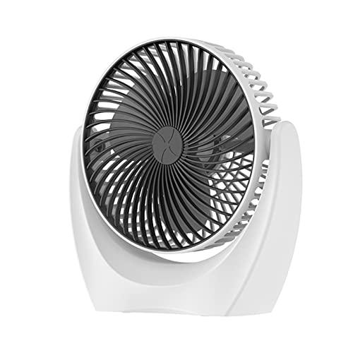 TIANYIA HEZB Ventilador de Mano Mudo USB Ventilador de Escritorio Recargable Mini Ventilador Personal 2 Modos de Viento Conexos portátiles USB Ventilador 360° Giratorio (Color : Black)