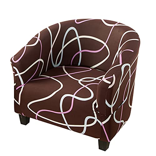 YSLJW Tub Chair Covers, Removable Washable Armchair Slipcovers Sofa Couch Cover for Dining Office (A-05)
