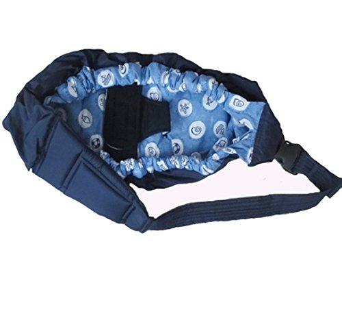 MEISHINE® Baumwolle Einstellbar Neugeborene Baby Carrier Baby Wrap Baby Sling Babytragetuch Tragehilfe Babyträger Bauchtrage (Hell Blau)