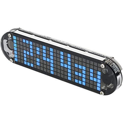 Cestbon Haute précision numérique DIY Dot Matrix LED Réveil Kit avec température du boîtier Transparent Date Heure Affichage,Noir