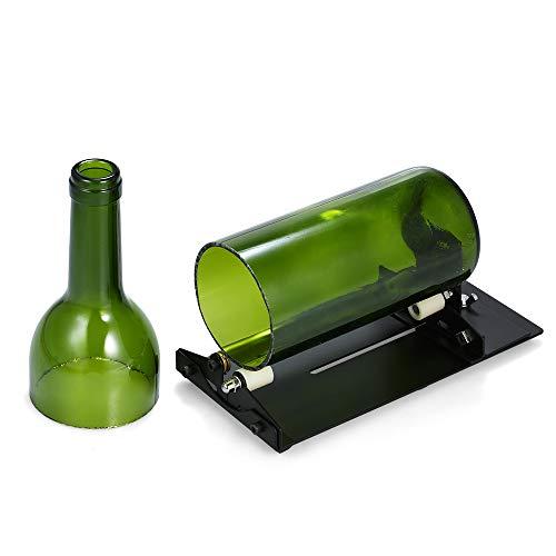 Decdeal Cortador de garrafas de vidro DIY ajustável Ferramenta de corte de garrafas Cortador de garrafas de cerveja de vinho para abajur criativo Suporte de vela plantador