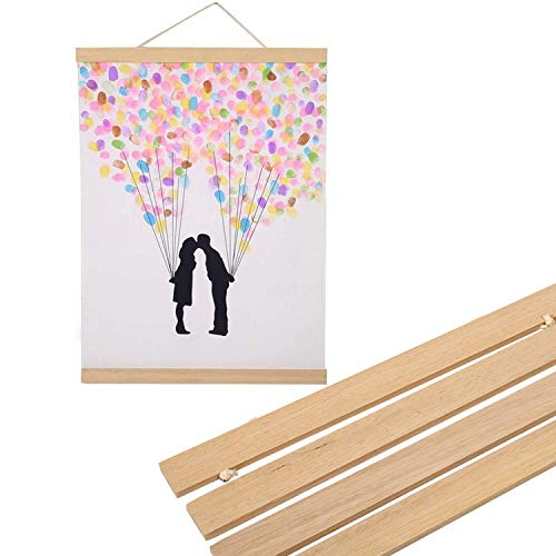 Price comparison product image Magnetic Wooden Photo Frame, Natural Wood Frame Picture Poster Artwork Canvas Hanger, for Home Decoration