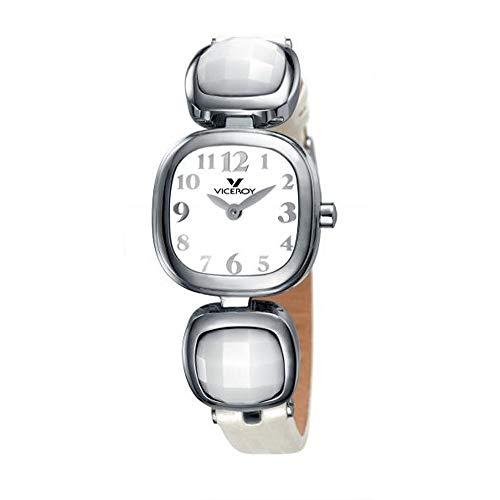 Reloj Viceroy 46622-04 Reloj de niña Cuadrado de Acero con Detalles facetados y números árabes