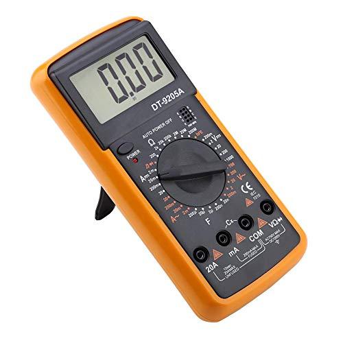 Multimeter, DT9205A AC/DC LCD-Display Digital-Multimeter Hand-Amperemeter Voltmeter Strommesser Widerstand Kapazitätsprüfer