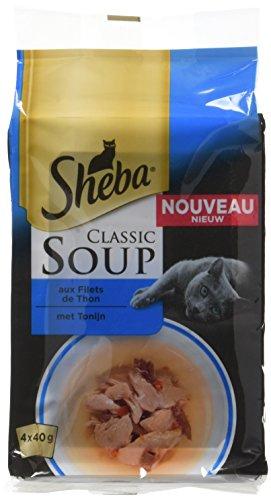 Sheba Set mit 12Suppen für Katzen, 4x 40g, 48Frischebeutel