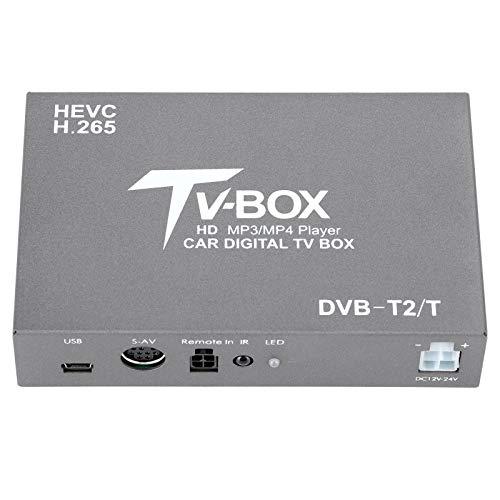 Wosune Receptor de TV Digital, Soporte Digital DVB para automóvil, para Soporte de automóvil Soporte MKV Soporte MPG Soporte AVI