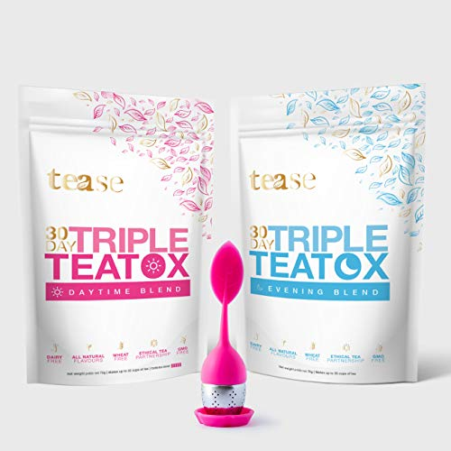 Tease Tea Organic Detox Treatment – 30 Day Triple Teatox Cleanse and Detox Kit