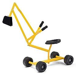 Heavy Duty Kids Ride-on Sand Digger Sandbox Digging Scooper Crane Excavator Toy