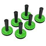FOSHIO 6PCS Green Car Vinyl Wrap Gripper Magnet Holder Tints Tool Refrigerator Magnets