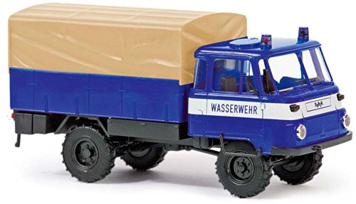 Busch Voitures - BUV50212 - Modélisme - Camion LO 2002 A - Wasserwehr - 1973