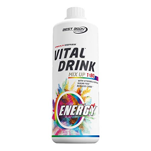 Best Body Nutrition Vital Drink Energy Sirup 60 mg Koffein, Getränkekonzentrat, 1000 ml Flasche
