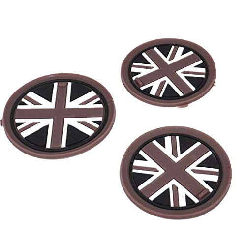 beler 3stk Union Jack Auto Anti-Rutsch Becher Matte Cupholder Mat (Fulfilled by Amazon)