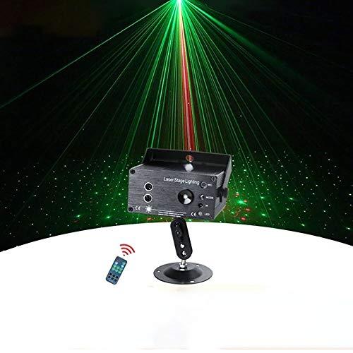 LXL Mini-Disco Bühne Licht, Drei-Loch-48-Muster LED-Stab KTV Partei beleuchtet DJ-Disco-Lichter for Tanzen Weihnachtsgeschenk Thanksgiving-Party Geburtstag