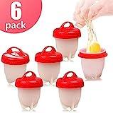 OMZGXGOD Cuoci Uova sode Senza Guscio, Stampi per Uova sode, Set di 6 stampi per Uova sode, cuoci...