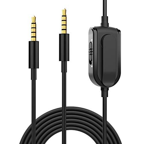 Binken Headset Ersatzkabel, Astro A10 A40 Gaming Headset 3,5 mm Audio Aux Kabel Inline Mute Lautstärkeregler Kompatibel mit Astro A10 A40 A30 A50 Xbox One Play Station PS4 PC Smartphone Audiokabel