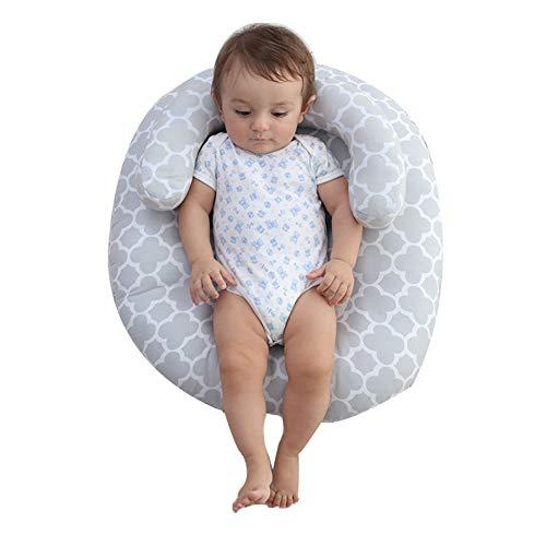 JUNBABY Neonato, per alleviare Il reflusso del Bambino, per Una Migliore digestione, Materasso per Allattamento, Cuscino per Dormire, Culla per Culla, Cotone Lavorato a Mano-Grey