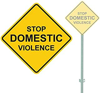 LilithCroft99 Novelty Gifts Stop Domestic Violence Signs Aluminum Metal Signs Vintage Warning Signs for Home Decor Yard Gate Sign 12