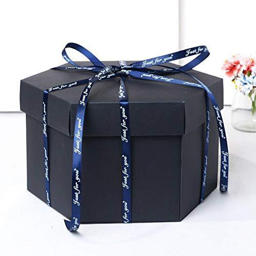 Lintimes - Caja Sorpresa Creativa para Hacer Manualidades, con 6 Caras, para Boda, Regalo DIY, Aniversario, San Valentín