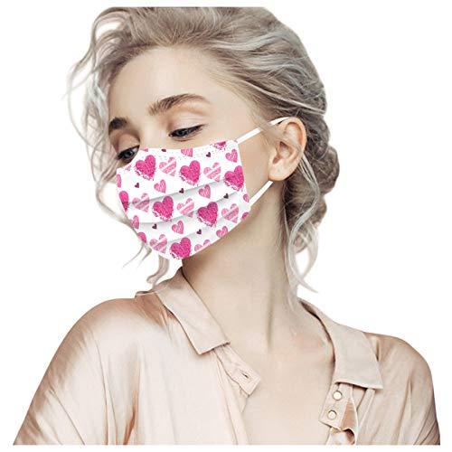 30 protectores bucales desechables para adultos con diseño de tinte de colores, protección nasal MNS, 3 capas, transpirable, bandana para el cuello para mujeres y hombres