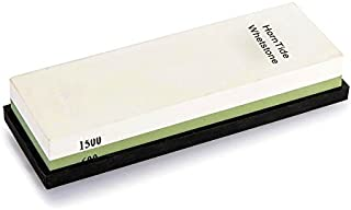 HornTide 600/1500 Grit Combinaison Whetstone 7 pouces corindon Waterstone Dual-Sided Knife Sharpener Pierre à aiguiser