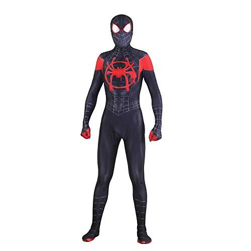 YQFZ Halloween Spiderman Cosplay kostuum, Black Spider Adult Fancy Dress Kostuum Volledige Bodysuit Spandex Jumpsuits Film Show Kostuum Props