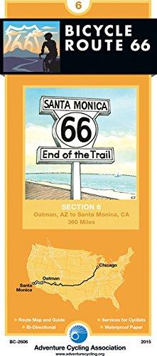Bicycle Route 66 Map #6: Oatman, AZ - Santa Monica, CA (360 Miles)