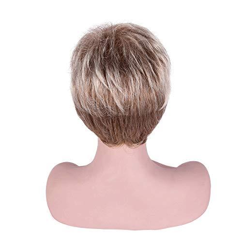 RUNWEI Mesdames Curly Fluffy Perruque Cheveux Courts | | élégant Cheveux synthétiques Perruque de Cheveux Courts for Les Parties Jeu de rôle et Une Utilisation Quotidienne Wi