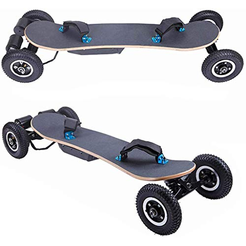 HETAO Cruiser Electric Skateboard, All Terrain Mountain Board,Double Drive Hub Board 40Km/H 1650W Motorized Mountain Longboard, 8 Layers, Remote Controlled