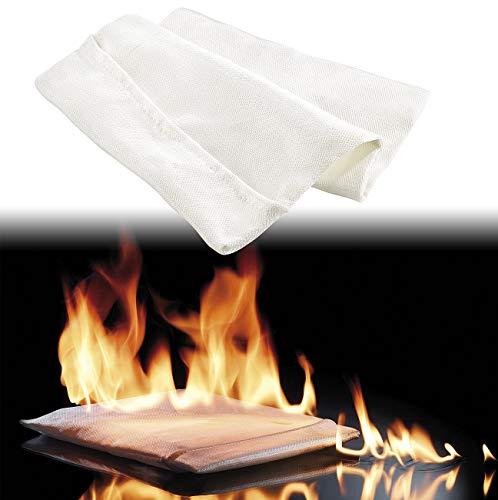 firebag Sac résistant au feu : porte-documents pour passeport, certificat, photos etc. (Poche pour documents résistante au feu)