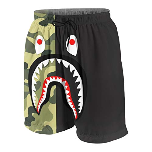 2020 Novelty Ba-pe B-lood Sh-ark Up Quick Dry Beach Swim Trunk