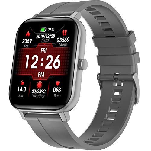 PHIPUDS Smartwatch Impermeable Reloj Inteligente con Pulsómetro, Pulsera Inteligente para Deporte con Cronómetro, Podómetro. Smartwatch Hombre Mujer Niños para Android iOS Xiaomi Huawei iPhone