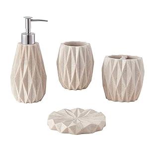 41HXkdaWMyL._SS300_ Coastal & Beach Bathroom Accessories Sets