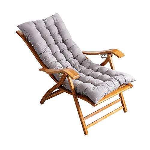 Sitzstuhl Mit Armlehnen Und Kopfstütze, Weiches Kissen, Verstellbare Rückenlehne, Für Garten-Patio Home Balcony Office Lounge Chair(Color:Grau)