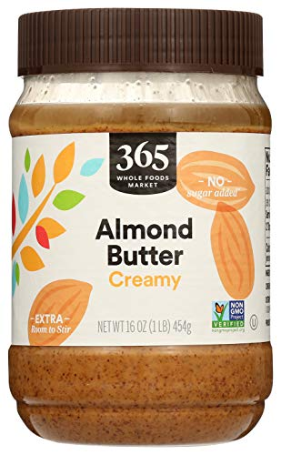365 by Whole Foods Market, Almond Butter, Creamy, 16 Ounce