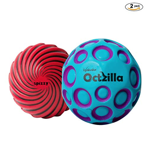 Waboba Octzilla & Waboba Spizzy Outdoor Bouncing Balls 2 Pack Set | Includes 2 Kids Outdoor Bouncy Balls | Great Toys for Outdoor Games | Balls for Kids