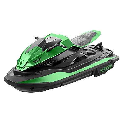 AIOJY 2.4G Long-Lasting Battery Life 20 Minutes Rowing Summer Toy Speed Boat Motor Racing Rowing Children's Boat, Remote Control Boat, Children's Best Birthday (Color : Green)
