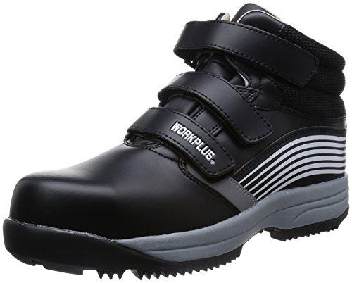 [ミドリ安全] 安全作業靴 JSAA認定 雪上用 簡易防水 スノーシューズ ハイカット プロスニーカー MPS155 メンズ ブラック 25.0(25cm)