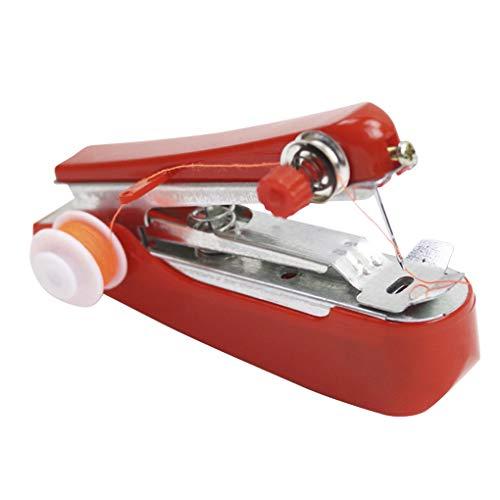 Tiannuan - Mini máquina de coser manual de uso sencillo y portátil, para coser, herramienta para acoger de viaje