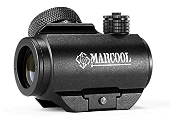 Marcool 1x20 Red Dot Sight Rifle Scope for 20-22.5mm Weaver Rail w/Rubber