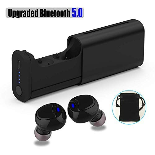 Wireless Bluetooth Earbuds, Re-sport Latest Bluetooth 5.0 Wireless Earbuds Touch Control Hifi 3D Stereo Deep Bass Audio in-Ear Bluetooth Headphones Earphones Built-in Mic Metal Texture Charging Case