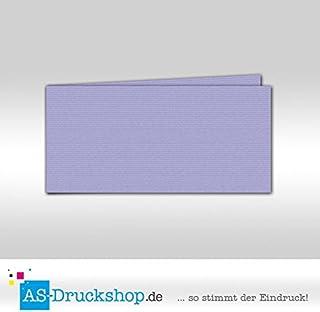 Faltkarte - Veilchenblau 100 Stück DIN Lang quer B0794YBVS2    Gewinnen Sie hoch geschätzt 92aac9