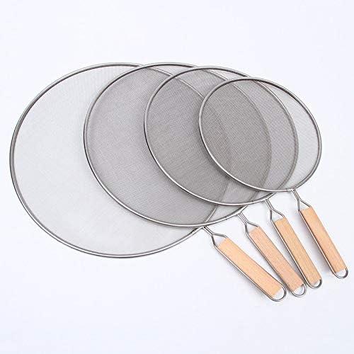 Argent ZengBuks Couvercle antid/éflagrant en Acier Inoxydable Anti-/éclaboussures Couvercle en Filet Anti-/éclaboussures r/ésistant /à lhuile pour Cuisine 21cm