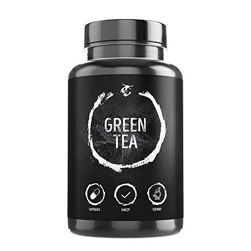 Green Tea-2000-180 Kapseln - 4000mg Tagesportion, 100% Vegan, Grüner Tee Extrakt hochdosiert, Natürlicher Fatburner