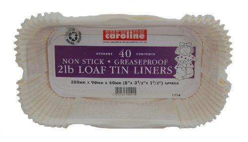 Caroline Packaging - Moldes de hojalata para Pan (40) 2 LB
