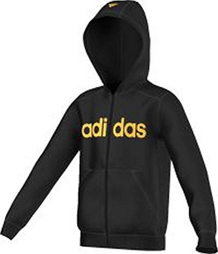 Adidas - Ess lin fzbr noir jr - Vestes sweats zippés capuche - Noir - Taille 9à10A